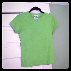NWOT {Lilly Pulitzer} Green Cotton T-Shirt